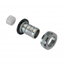 Hose union with connector and capnut