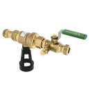 Ball valve with backflow protection with drainplug CA 2096