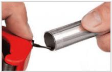 Knelkoppeling staalverzinkt monteren stap 2