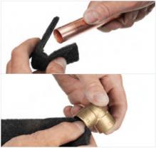 Soldeerfitting solderen stap 1