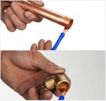 Soldeerfitting solderen stap 2