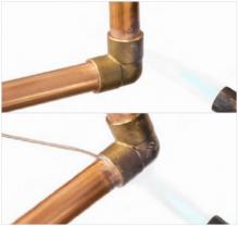 Soldeerfitting solderen stap 4