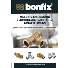 BONFIX Messing en Messing vertinde knelfittingen