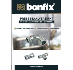 BONFIX PRESS Staalverzinkt