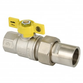 Gas valve with butterfly handle