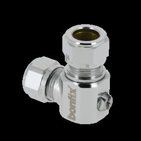Angle mini ball valve (screwdriver)