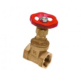 Full flow gate valve brass surface