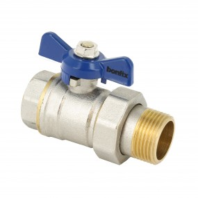 Ball valve with blue butterfly