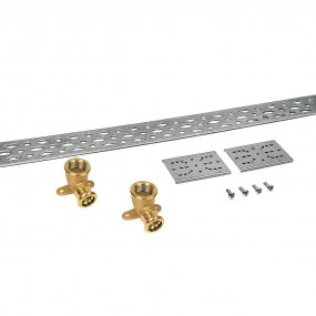 Wall plate mounting set