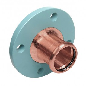 Backplate flange coupling