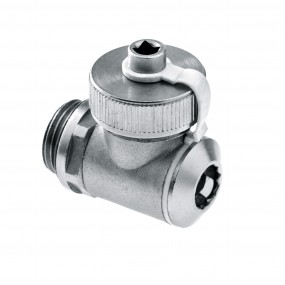 Rotating fill and drain valve with silicone O-ring nickel