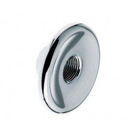 Wallplate round (polished chrome) + connector
