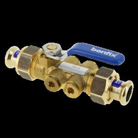 Ball valve with backflow protection with drainplug EA