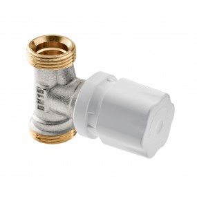 Angle radiator valve with hand - wheel