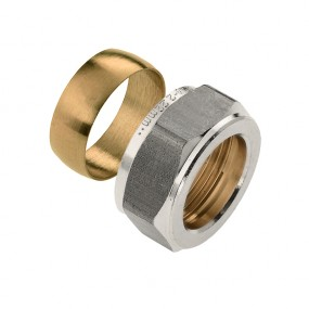Compression ring and nut
