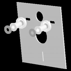 Wandcloset isolatieset vierkant