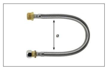 Flexibele slang kraan aansluiten stap 3